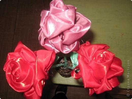 Розы из ткани - мастеркласс, как.