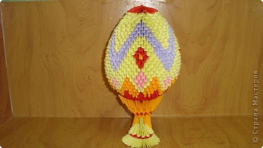Яйцо оригами своими руками