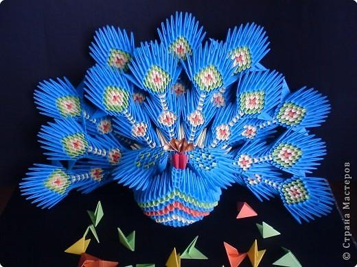 оригами схема журавлик. китайское модульное оригами.