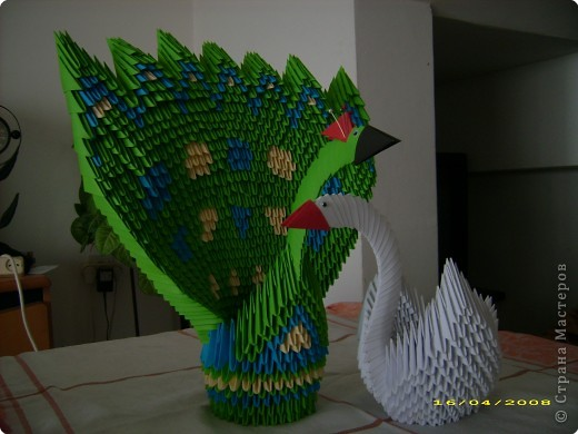 Оригами модульное: птички.