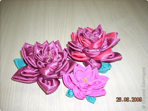 Шитьё: Цветы из кругов ткани (мастер-класс)
