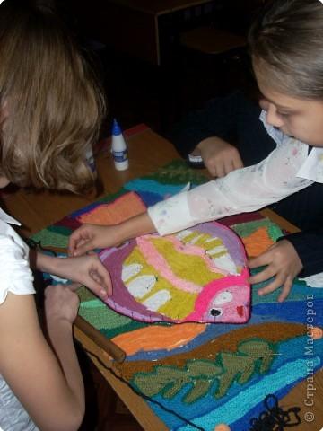 Коллективная работа Вязание крючком: Нетканый гобелен Нитки.  Фото 4.