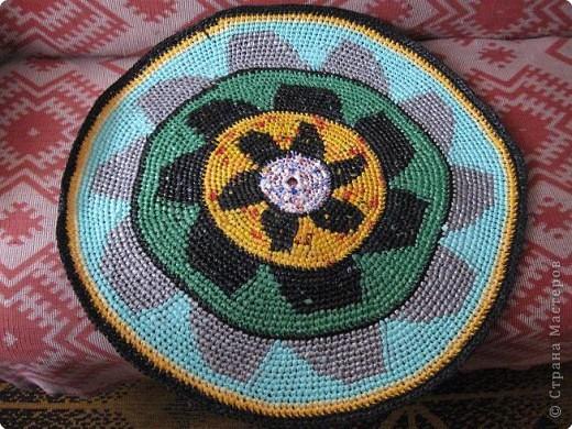 Вязание крючком: Чудо-коврики. Материал бросовый. Фото 3