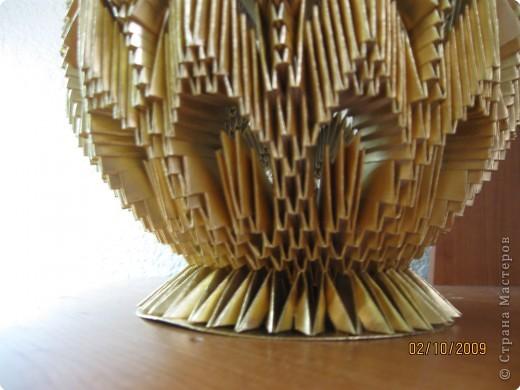 Мастер-класс, Поделка, изделие Оригами модульное: Ваза.  Фото 3.