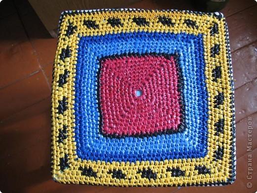 Вязание крючком: Чудо-коврики. Материал бросовый. Фото 12