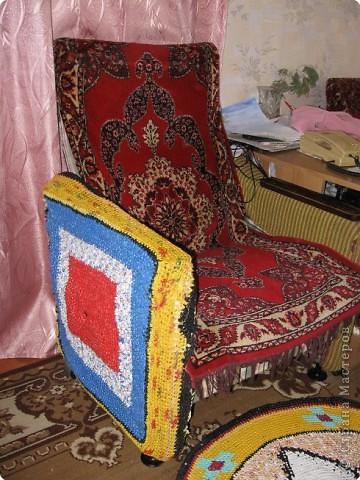 Вязание крючком: Чудо-коврики. Материал бросовый. Фото 13