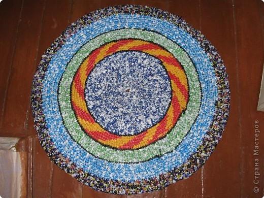 Вязание крючком: Чудо-коврики. Материал бросовый. Фото 7