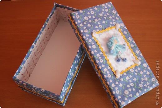 Оформить коробку тканью своими руками