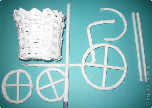 Плетение: Изобретаем велосипед Бумага газетная. Фото 2