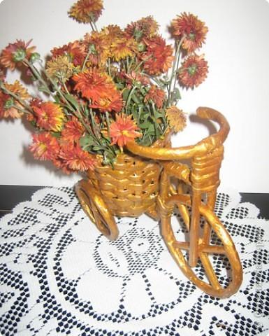 Плетение: Изобретаем велосипед Бумага газетная. Фото 4