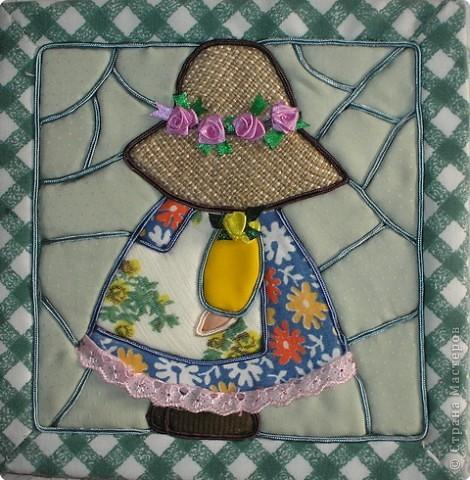 Картина, панно Аппликация: Все дело в шляпе Ткань