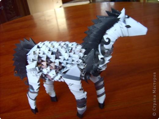 Оригами модульное: лошадка.