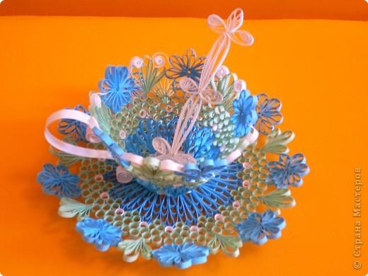 Квиллинг: Чайный набор. Фото 2