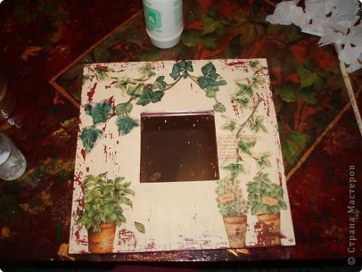 Мастер-класс Декупаж: Декупаж и шебби-шик на зеркале. Фото 7