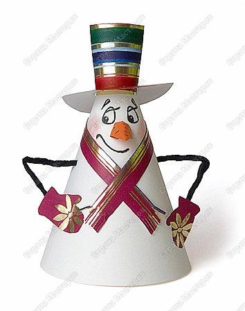 Снеговичок-колпачок