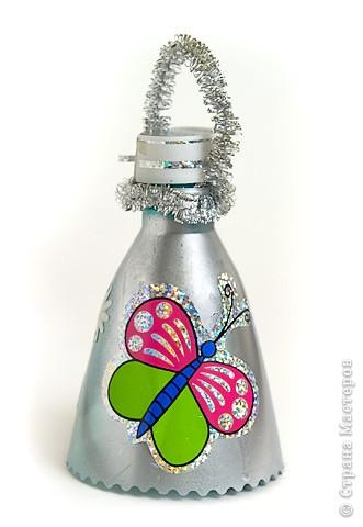 Новогодний колокольчик своими руками из бутылки