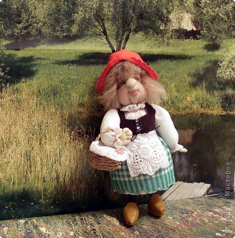 Куклы Шитьё: Красная шапочка Ткань.  Фото 1.