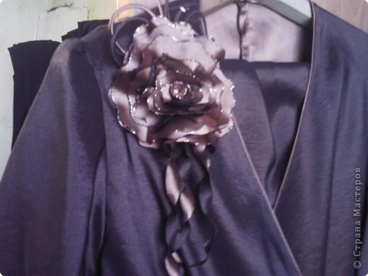 Украшение: декоративные цветы из ткани.  Ткань.  Фото 3.