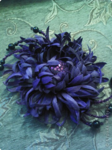 Украшение: декоративные цветы из ткани.  Ткань.  Фото 7.