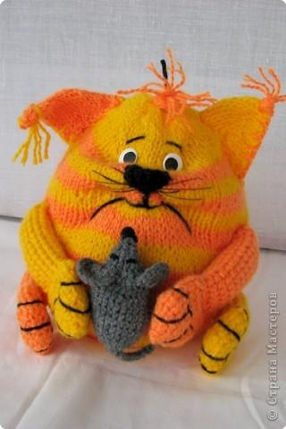 Кот подушка своими руками вязаный