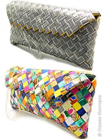 Эко-сумки из конфетных фантиков, журналов и газет от Ecoist.