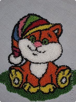 Мастер-класс Вышивка ковровая: РЫЖИК Ткань. Фото 24