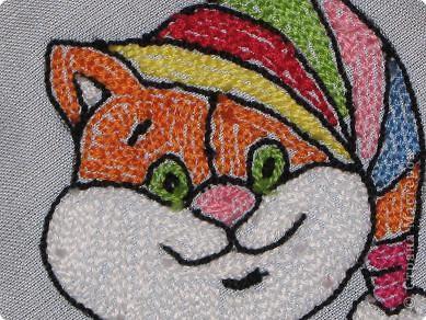 Мастер-класс Вышивка ковровая: РЫЖИК Ткань. Фото 23