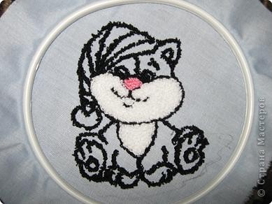 Мастер-класс Вышивка ковровая: РЫЖИК Ткань. Фото 20