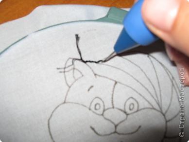 Мастер-класс Вышивка ковровая: РЫЖИК Ткань. Фото 16