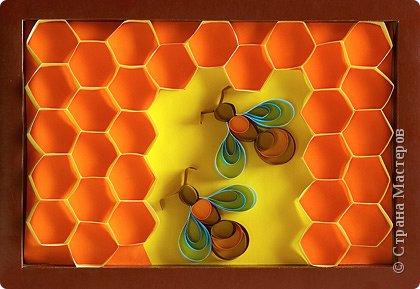 Бумагопластика: Пчёлки на сотах