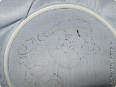 Мастер-класс Вышивка ковровая: РЫЖИК Ткань. Фото 15