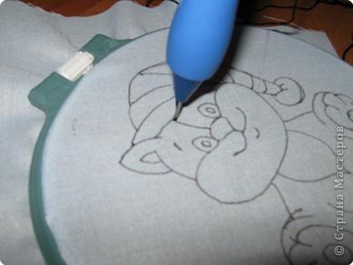 Мастер-класс Вышивка ковровая: РЫЖИК Ткань. Фото 14