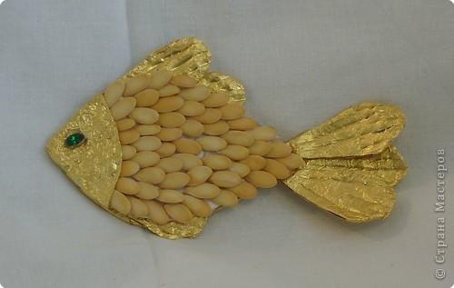 Золотая рыбка из монет своими руками фото