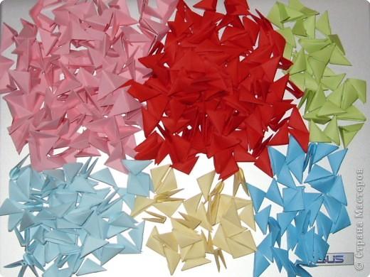 Мастер-класс Оригами модульное: МК на изготовление попугайчика Бумага. Фото 2