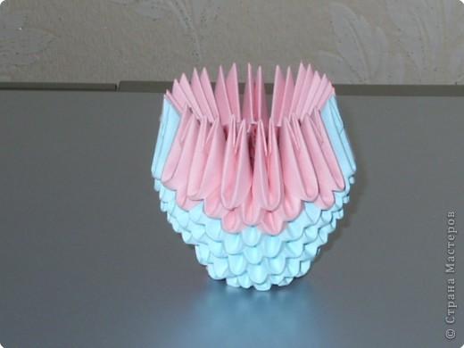 Мастер-класс Оригами модульное: МК на изготовление попугайчика Бумага. Фото 16
