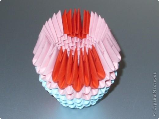 Мастер-класс Оригами модульное: МК на изготовление попугайчика Бумага. Фото 20
