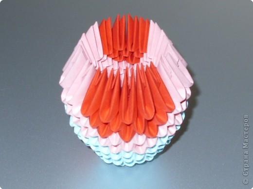 Мастер-класс Оригами модульное: МК на изготовление попугайчика Бумага. Фото 21