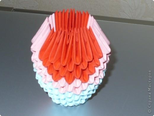 Мастер-класс Оригами модульное: МК на изготовление попугайчика Бумага. Фото 22