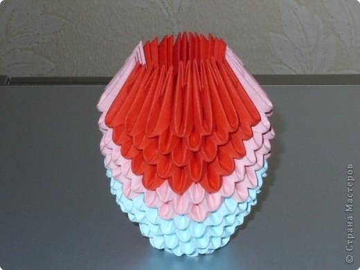 Мастер-класс Оригами модульное: МК на изготовление попугайчика Бумага. Фото 23