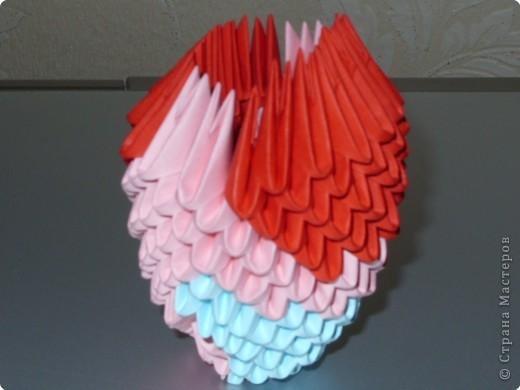 Мастер-класс Оригами модульное: МК на изготовление попугайчика Бумага. Фото 24