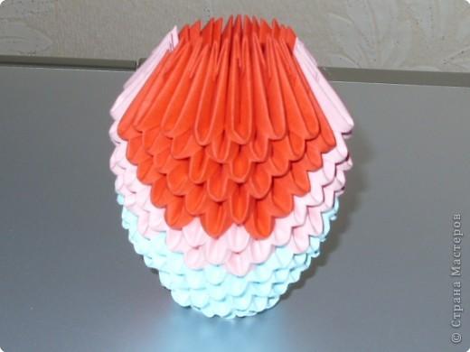 Мастер-класс Оригами модульное: МК на изготовление попугайчика Бумага. Фото 25