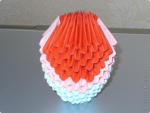 Мастер-класс Оригами модульное: МК на изготовление попугайчика Бумага. Фото 26