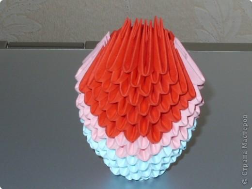 Мастер-класс Оригами модульное: МК на изготовление попугайчика Бумага. Фото 27
