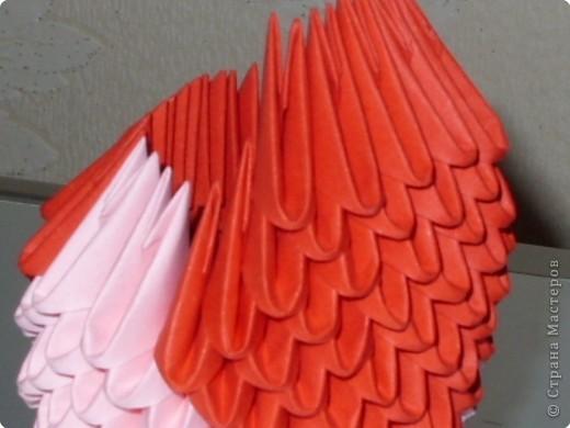 Мастер-класс Оригами модульное: МК на изготовление попугайчика Бумага. Фото 28