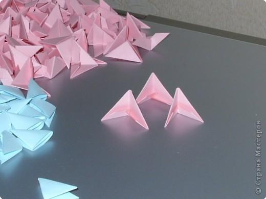 Мастер-класс Оригами модульное: МК на изготовление попугайчика Бумага. Фото 3