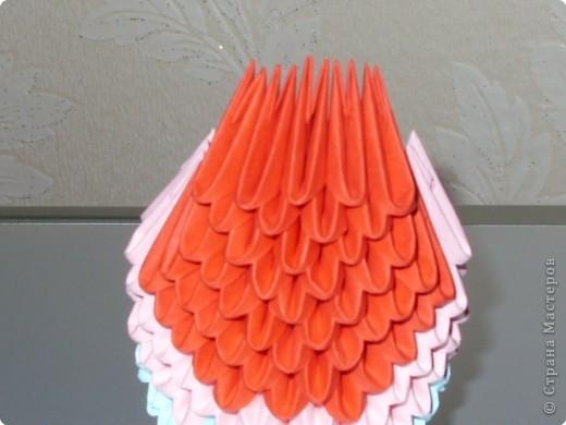 Мастер-класс Оригами модульное: МК на изготовление попугайчика Бумага. Фото 29