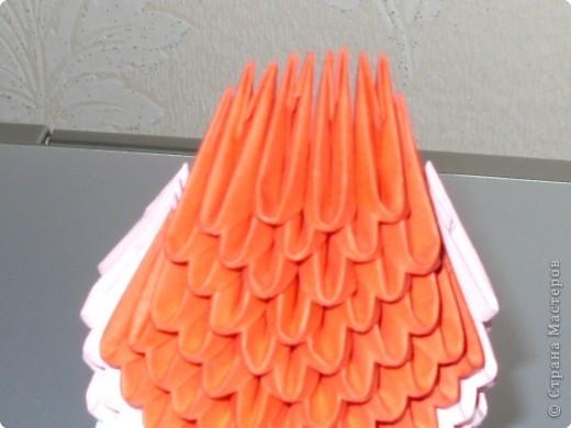 Мастер-класс Оригами модульное: МК на изготовление попугайчика Бумага. Фото 30
