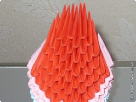 Мастер-класс Оригами модульное: МК на изготовление попугайчика Бумага. Фото 31