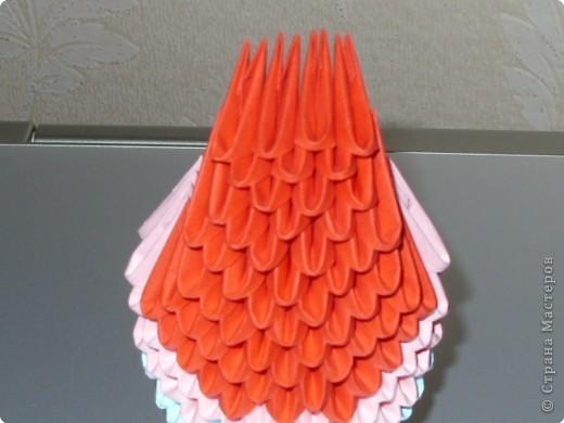 Мастер-класс Оригами модульное: МК на изготовление попугайчика Бумага. Фото 32