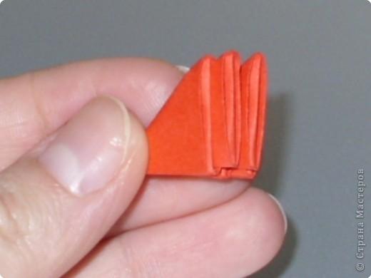 Мастер-класс Оригами модульное: МК на изготовление попугайчика Бумага. Фото 39